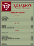 Rosario's Catering Menu - Clarks Summit, PA