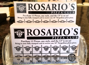 Rosario's Pizzeria - Pizza Punch Card